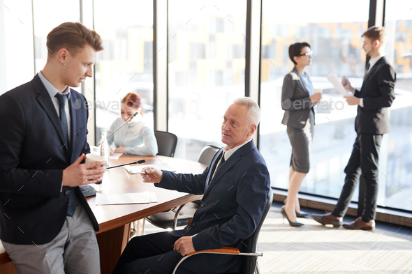 Business People on Break - Stock Photo - Images