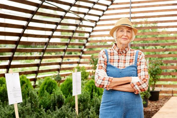 Happy Senior Gardener - Stock Photo - Images