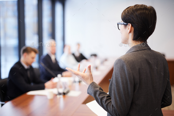 Business Student Giving Presentation - Stock Photo - Images