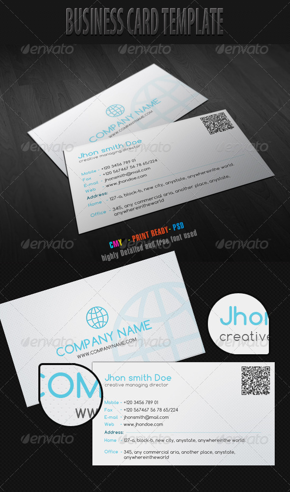 Business Card Template 1 - Creative Business Cards