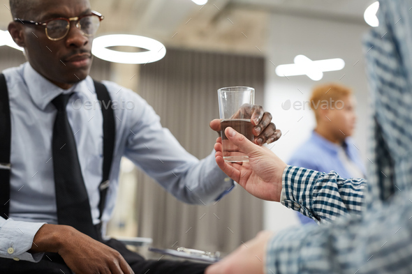Giving Glass of Water - Stock Photo - Images