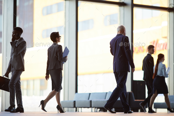 People in Office Building - Stock Photo - Images