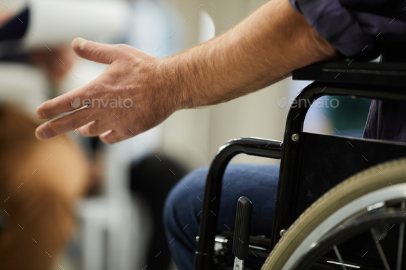Disabled person in wheelchair - Stock Photo - Images