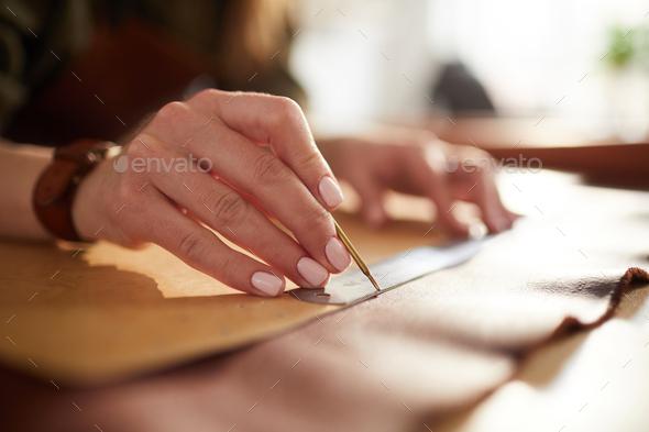 Leatherwork Closeup - Stock Photo - Images