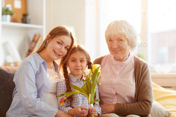 Women in Family Posing - Stock Photo - Images