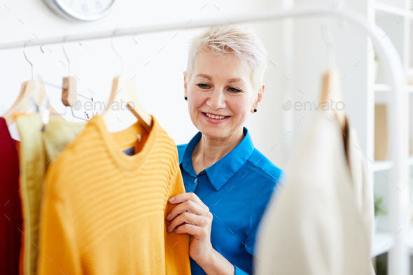 Choosing casual clothes - Stock Photo - Images