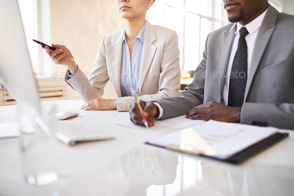 Making notes and presentation - Stock Photo - Images
