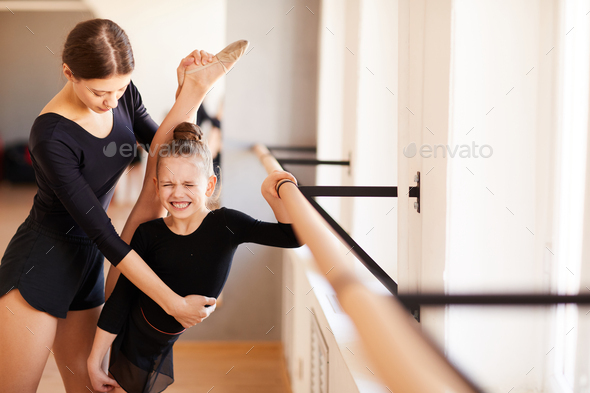 Painful Stretching - Stock Photo - Images