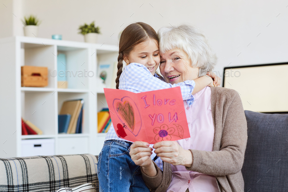 I Love You Card for Grandma - Stock Photo - Images