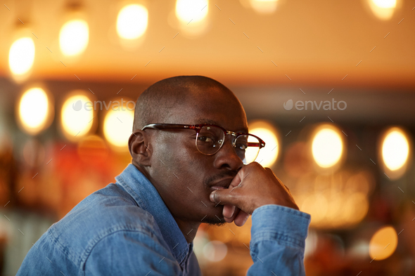 Portrait of Contemporary African Man - Stock Photo - Images