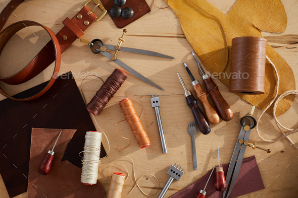 Leatherwork Table - Stock Photo - Images