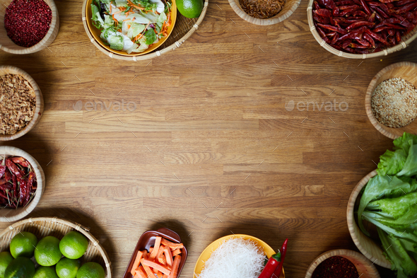 Oriental Spices Background - Stock Photo - Images