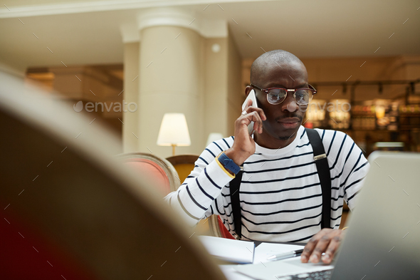 African Man Working - Stock Photo - Images