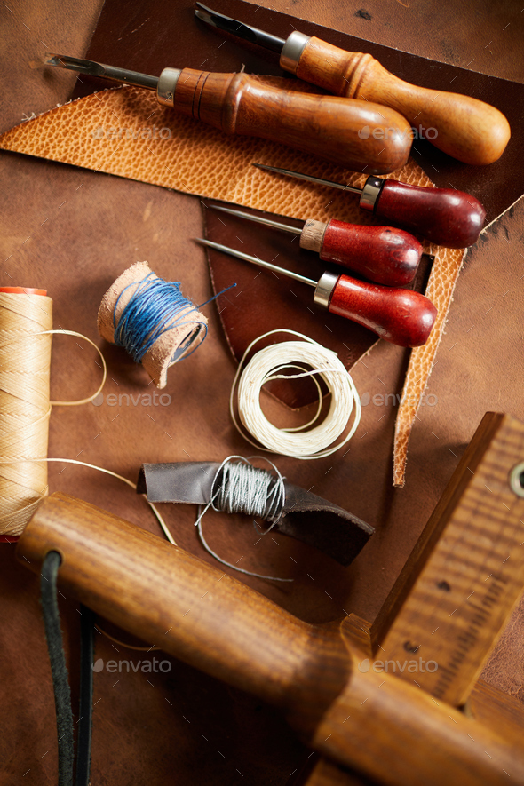 Vintage Leatherwork Craft - Stock Photo - Images