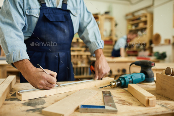 Senior Carpenter Close up - Stock Photo - Images