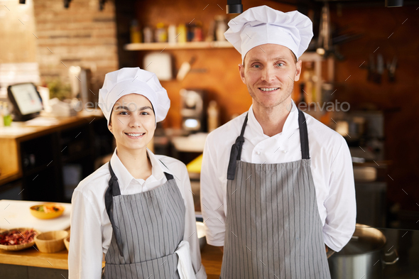 Two Chefs Posng - Stock Photo - Images
