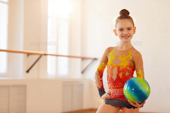 Girl Gymnast Posing - Stock Photo - Images