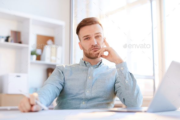 Handsome Businessman Posing in Sunlight - Stock Photo - Images