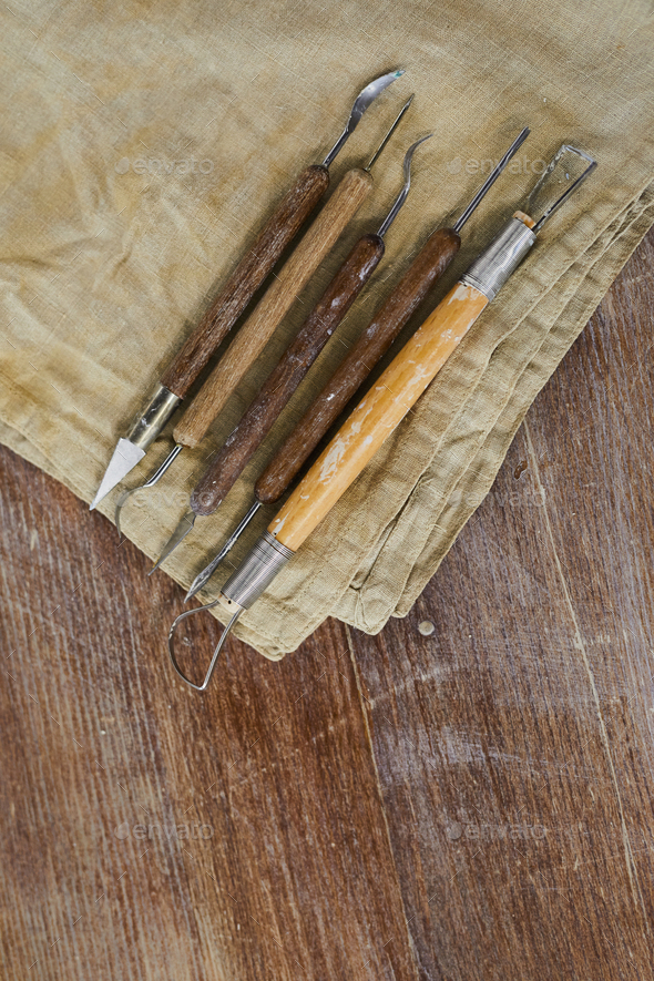 Sculpting tools for clay - Stock Photo - Images