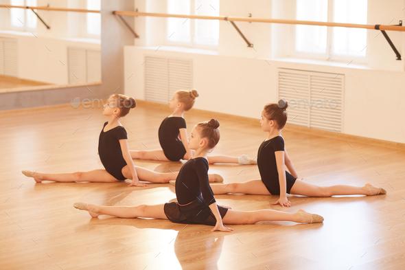 Group of Girls doing Splits - Stock Photo - Images
