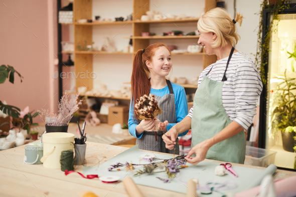 Teenage Girl Making Herbarium - Stock Photo - Images