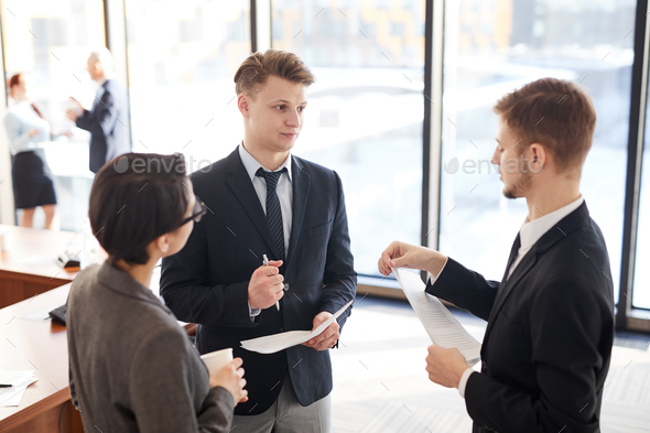 Group of Business People Chatting - Stock Photo - Images
