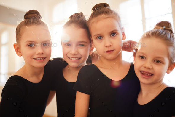 Little Dancers Posing - Stock Photo - Images