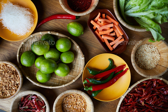 Spices in Bowls - Stock Photo - Images
