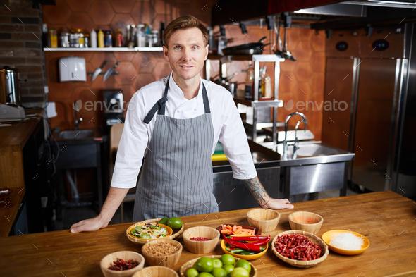 Chef Preparing Spicy Dish - Stock Photo - Images