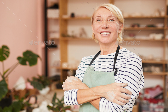 Female Artisan in Workshop - Stock Photo - Images