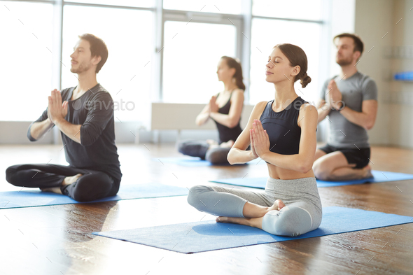Group meditation practice - Stock Photo - Images
