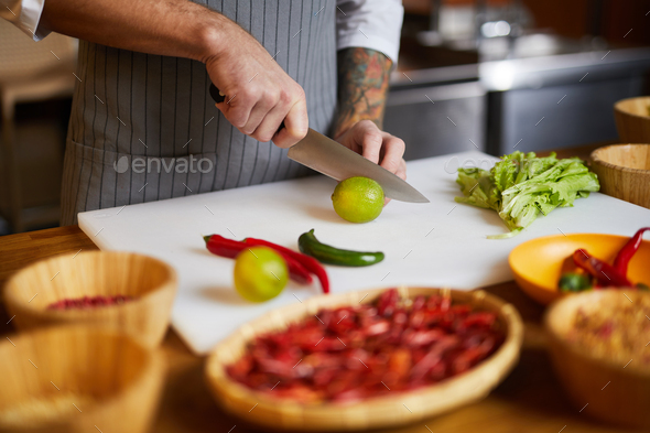 Chef Cooking Spicy Food - Stock Photo - Images