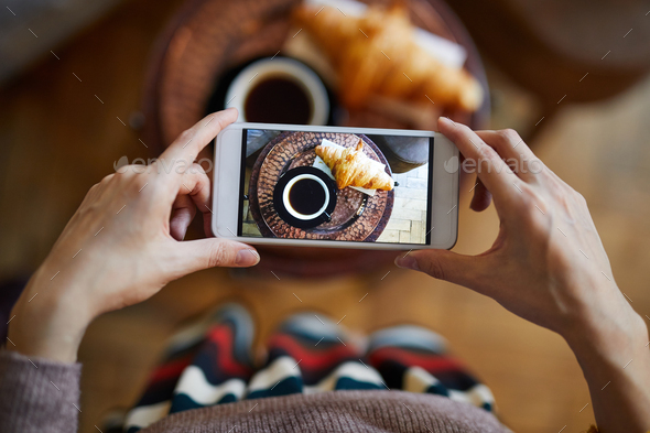 Photographing snack - Stock Photo - Images