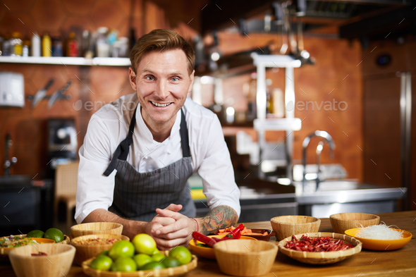 Smiling Chef - Stock Photo - Images