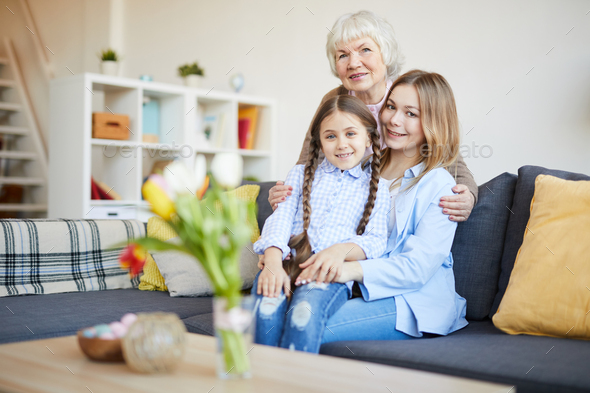 Womens Family Portrait - Stock Photo - Images