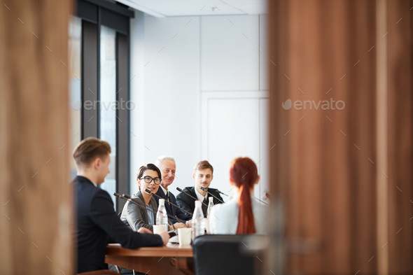 Conference Room Through Doors - Stock Photo - Images