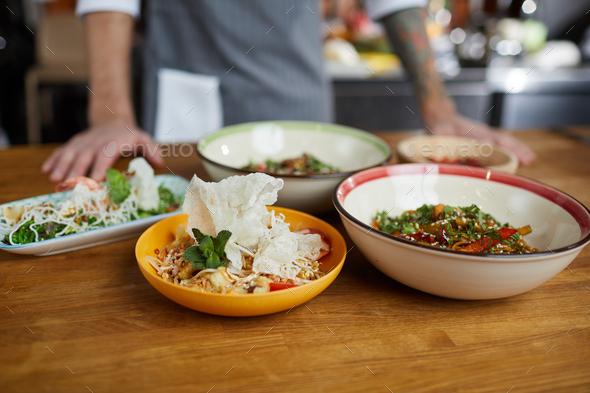 Asian Food Closeup - Stock Photo - Images