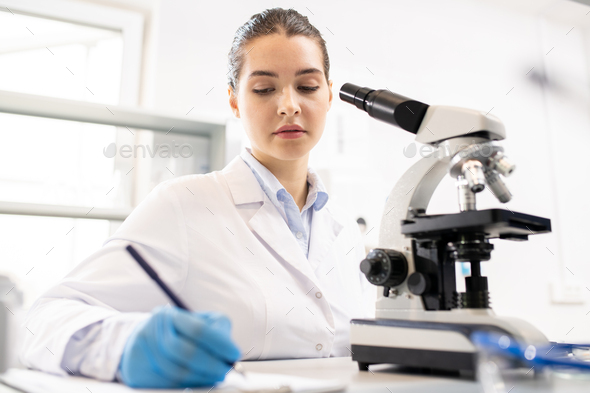 Making records about research - Stock Photo - Images