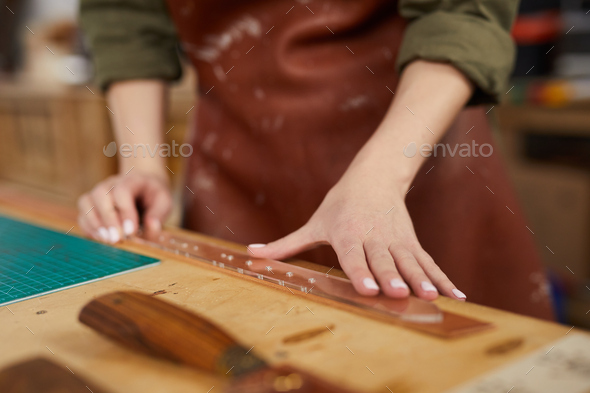 Leather Belt in Progress - Stock Photo - Images