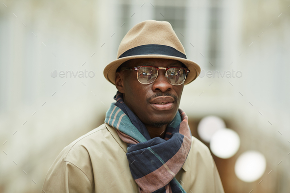 African Man Posing in Street - Stock Photo - Images