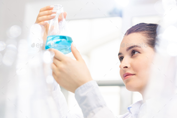 Preparing compound in laboratory - Stock Photo - Images