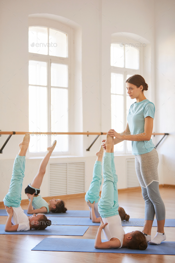 Children Stretching - Stock Photo - Images