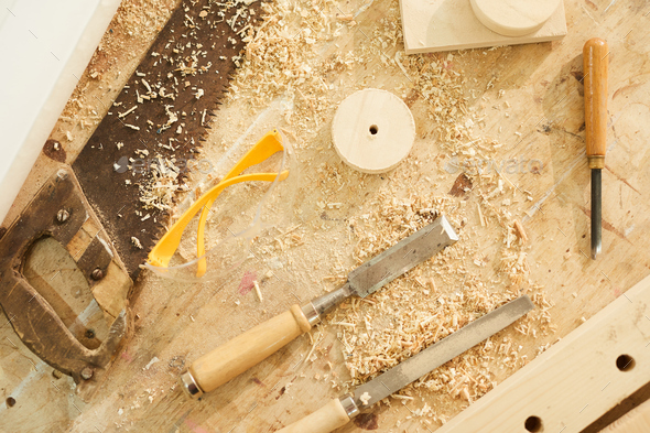 Woodworking Station Background - Stock Photo - Images