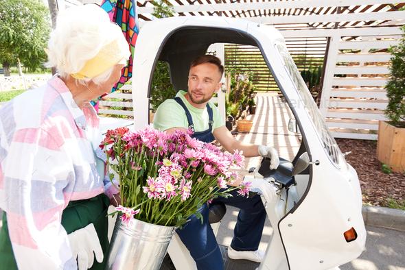 Flower Delivering Service - Stock Photo - Images