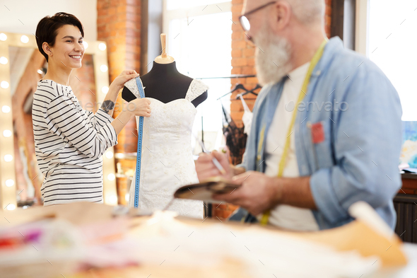 Working over new dress - Stock Photo - Images