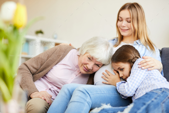 Four Generations of Women - Stock Photo - Images