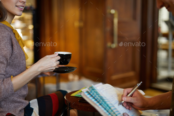 Woman with cup of tea - Stock Photo - Images