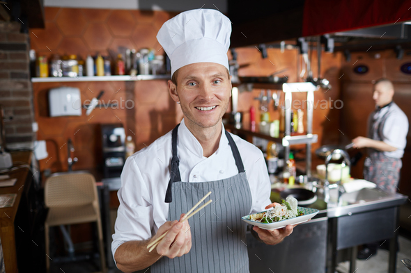 Professional Asian Food Chef - Stock Photo - Images