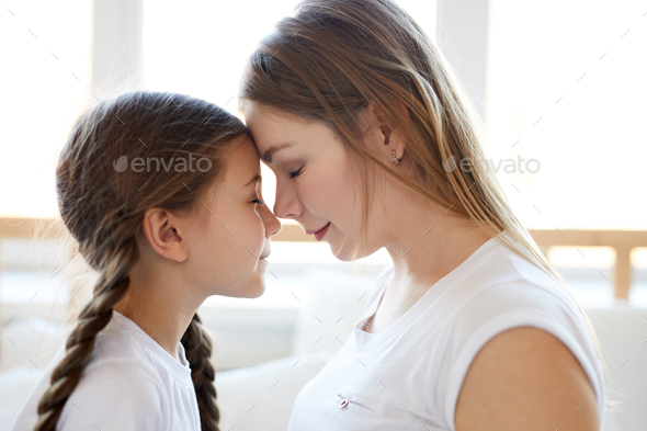 Loving Mother Side View - Stock Photo - Images