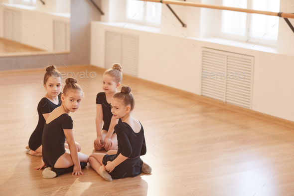 Girls in Dance Studio - Stock Photo - Images